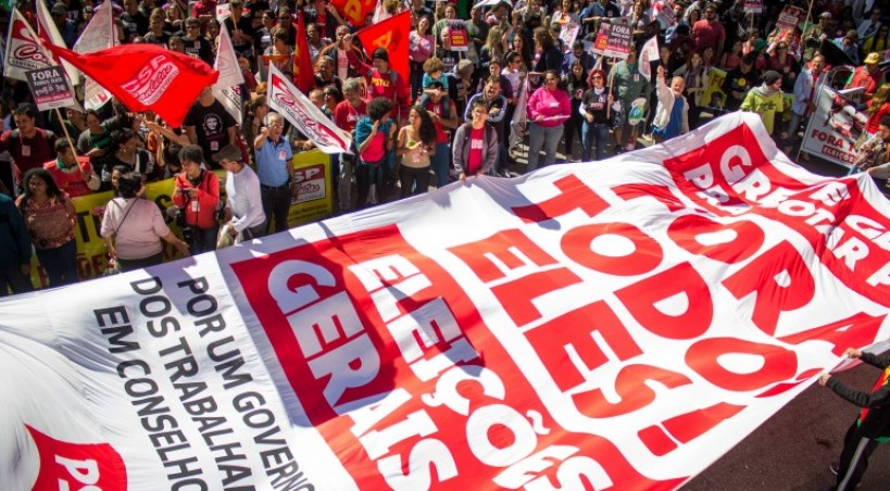 May Day in São Paulo: 4 thousand took the streets chanting: Out with Dilma, Temer, Cunha and Aécio!
